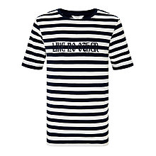 Buy John Lewis Childrens' Like No Other T-Shirt, Navy/White Online at johnlewis.com