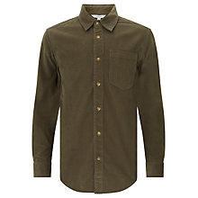 Buy John Lewis Boys' Corduroy Shirt, Olive Online at johnlewis.com