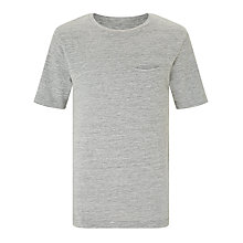 Buy John Lewis Childrens' Long Waffle T-Shirt, Grey Online at johnlewis.com