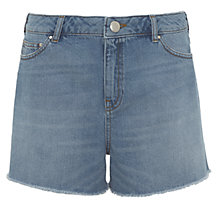 Buy Mint Velvet Denim Cut Off Shorts, Dark Blue Online at johnlewis.com
