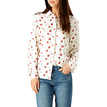 Buy Sugarhill Boutique Blair Strawberry Print Shirt, Cream Online at johnlewis.com