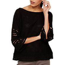 Buy Mint Velvet Crochet Trim Jumper Online at johnlewis.com