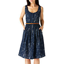 Buy Sugarhill Boutique Beatrice Map Sun Dress, Navy Online at johnlewis.com