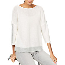 Buy Mint Velvet Metallic Stripe Dropped Sleeve Jumper, Ivory Online at johnlewis.com