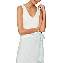 Buy Mint Velvet Ribbed Vest Top, Ivory Online at johnlewis.com