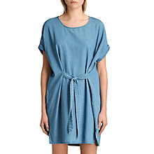 Buy AllSaints Sonny Denim Dress, Mid Indigo Blue Online at johnlewis.com