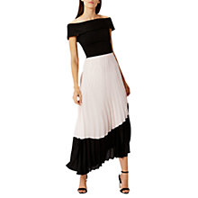 Buy Coast Lotus Pleated Skirt, Blush Online at johnlewis.com