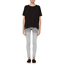 Buy French Connection Dabo Bonded T-Shirt, Black Online at johnlewis.com