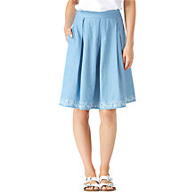 Buy Sugarhill Boutique Fiona Ellie Embroidered Skirt, Blue/White Online at johnlewis.com