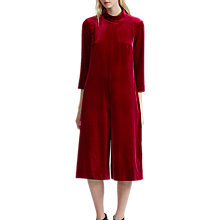 Buy French Connection Amber Velvet Jumpsuit, Biker Berry Online at johnlewis.com
