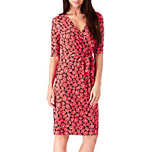Buy Sugarhill Boutique Marian Floral Jersey Wrap Dress, Red Online at johnlewis.com