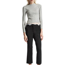 Buy French Connection Glass Stretch Boot Cut Trousers, Black Online at johnlewis.com