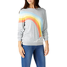 Buy Sugarhill Boutique Nita Rainbow and Cloud Jumper, Grey/Multi Online at johnlewis.com