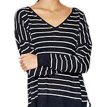 Buy Mint Velvet Boxy Striped Linen Jumper Online at johnlewis.com