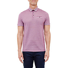 Buy Ted Baker Utah Jacquard Polo Shirt, Purple Online at johnlewis.com