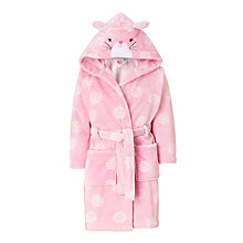 Buy John Lewis Children's Spot Rabbit Robe, Pink Online at johnlewis.com