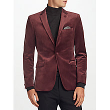 Buy Kin by John Lewis Notch Velvet Jacket, Dusty Rose Online at johnlewis.com