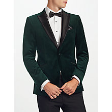 Buy Kin by John Lewis Emerald Peak Lapel Velvet Jacket, Emerald Green Online at johnlewis.com