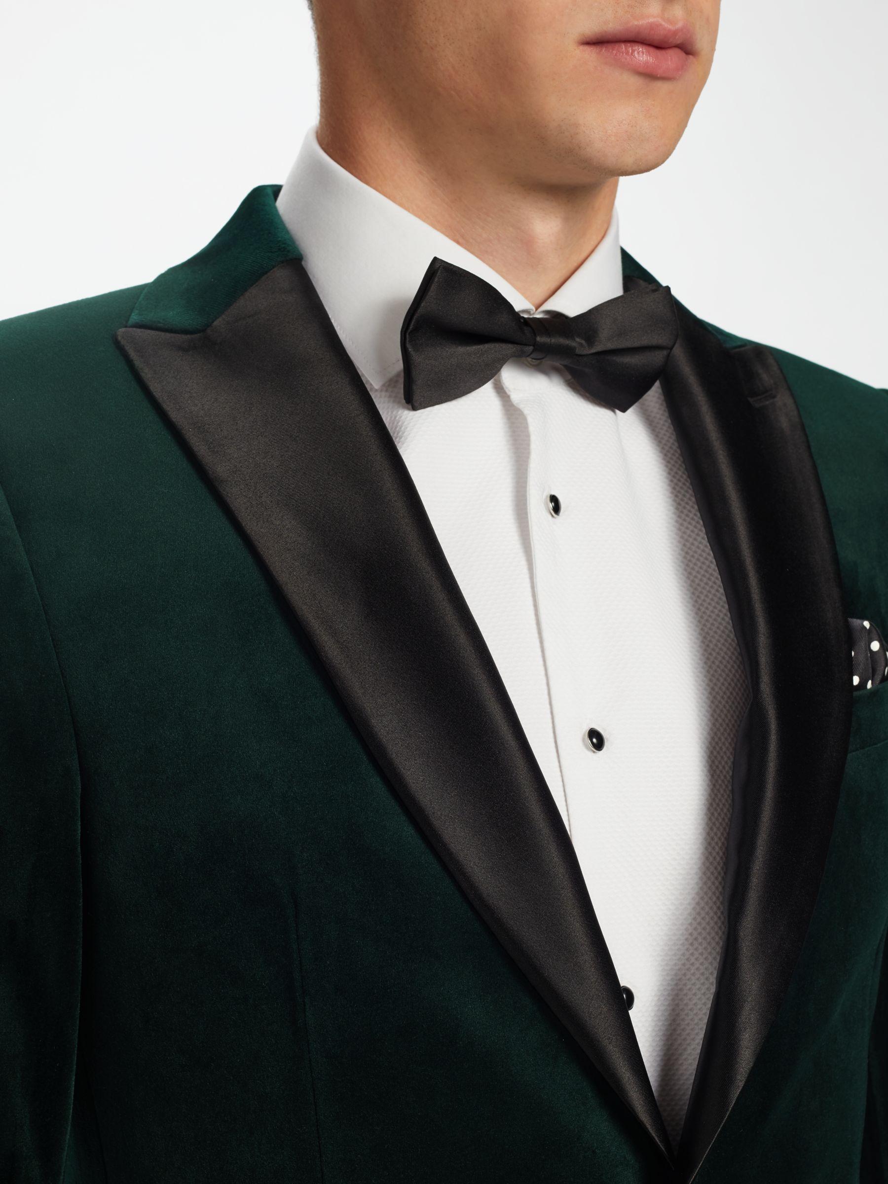 Kin Emerald Peak Lapel Velvet Jacket Emerald Green At John Lewis Partners