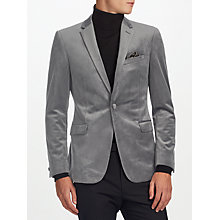 Buy Kin by John Lewis Notch Velvet Jacket, Grey Online at johnlewis.com