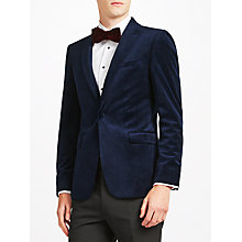 Buy Kin by John Lewis Peak Velvet Jacket, Navy Online at johnlewis.com