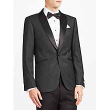 Buy John Lewis Wool Jacquard Shawl Lapel Tailored Fit Dress Jacket, Charcoal Online at johnlewis.com
