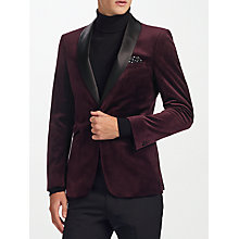 Buy Kin by John Lewis Shawl Velvet Jacket, Burgundy Online at johnlewis.com
