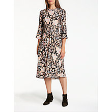 Buy Somerset by Alice Temperley Fireflower Crew Neck Midi Dress, Black Online at johnlewis.com
