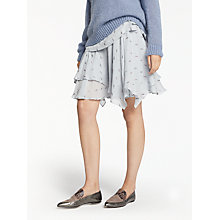 Buy Modern Rarity Silk Clipped Jacquard Skirt, Sky Blue Online at johnlewis.com