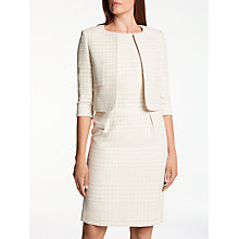 Buy Bruce by Bruce Oldfield Sparkle Tweed Jacket, Cream Online at johnlewis.com