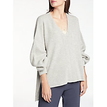 Buy Modern Rarity Vee Pleat Sleeve Jumper, Grey Online at johnlewis.com