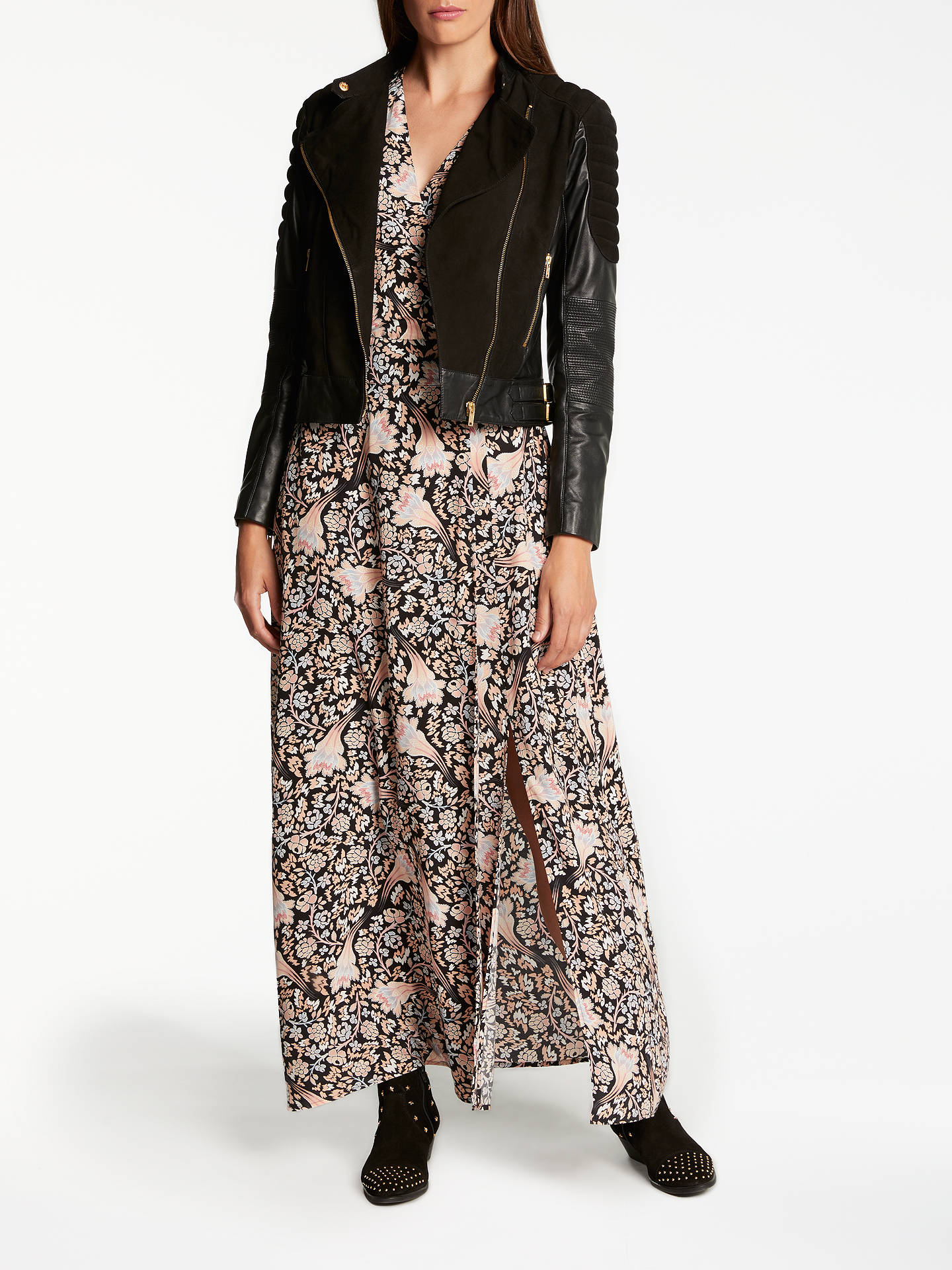 Buy Somerset by Alice Temperley Fireflower Maxi Dress, Black, 6 Online at johnlewis.com