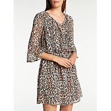 Buy Somerset by Alice Temperley Leopard Flute Sleeve Dress, Multi Online at johnlewis.com