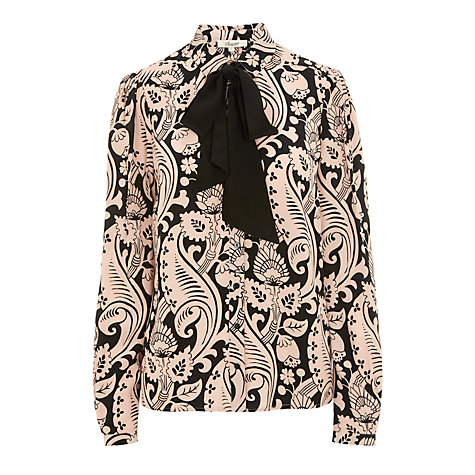 Buy Somerset by Alice Temperley Button Through Blouse, Nude Online at johnlewis.com