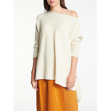 Buy Modern Rarity Cashmere Tie Side Jumper, Cream Online at johnlewis.com