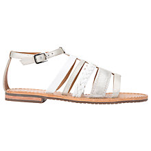 Buy Geox Sozy Multi Strap Sandals, White/Silver Online at johnlewis.com