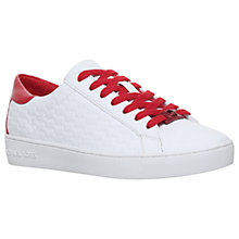 Buy MICHAEL Michael Kors Colby Lace Up Trainers, White/Red Online at johnlewis.com
