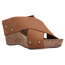 Buy Carvela Comfort Sooty Cross Strap Wedge Heel Sandals Online at johnlewis.com