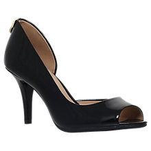 Buy MICHAEL Michael Kors Hamilton Peep Toe Asymmetric Sandals, Black Online at johnlewis.com