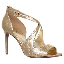 Buy MICHAEL Michael Kors Estee Cross Strap Stiletto Sandals, Gold Online at johnlewis.com