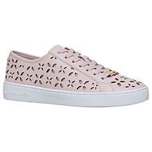 Buy MICHAEL Michael Kors Keaton Cut Out Lace Up Trainers, Pale Pink Online at johnlewis.com