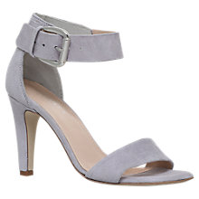 Buy Carvela Kitty Cone Heeled Sandals, Grey Online at johnlewis.com