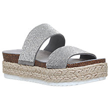 Buy Carvela Karry Flatform Sandals, Grey Online at johnlewis.com