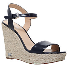 Buy MICHAEL Michael Kors Jill Wedge Heeled Sandals, Navy Online at johnlewis.com