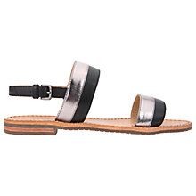 Buy Geox Sozy Slingback Sandals, Black/Gunmetal Online at johnlewis.com