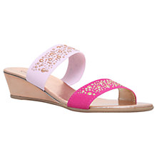 Buy Carvela Comfort Sage Low Heeled Mule Sandals, Pink Comb Online at johnlewis.com