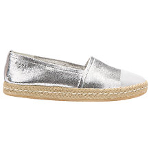 Buy Geox Modesty Espadrilles, Silver Online at johnlewis.com