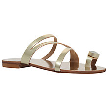 Buy Carvela Klass Toe Loop Slip On Sandals, Gold Online at johnlewis.com