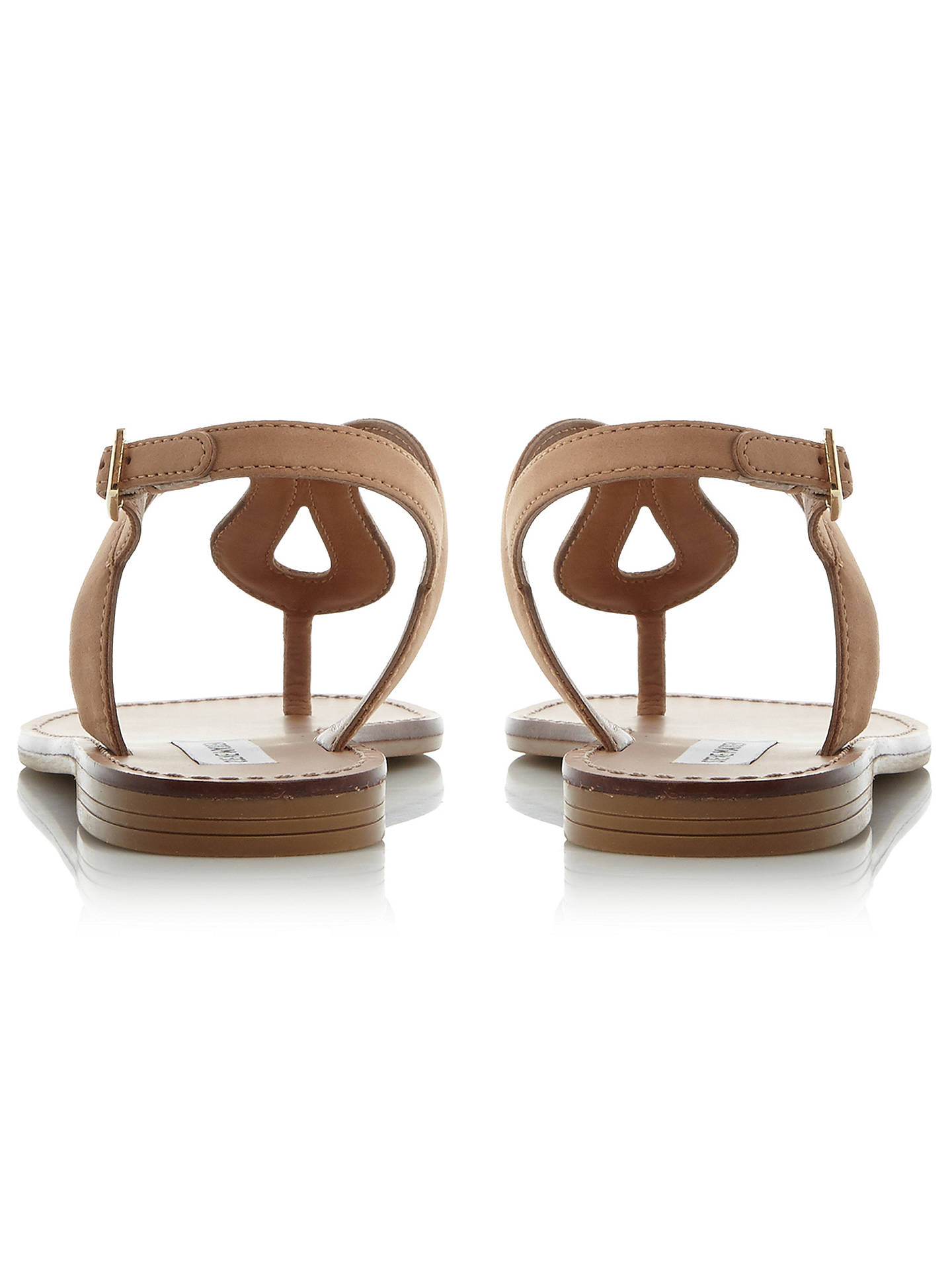 BuySteve Madden Takeaway Toe Post Flat Sandals, Tan, 3 Online at johnlewis.com
