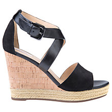 Buy Geox Janira Wedge Heeled Sandals, Black Online at johnlewis.com